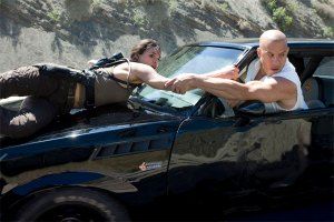 MICHELLE RODRIGUEZ and VIN DIESEL are Letty and Dom Torreto in Fast & Furious.